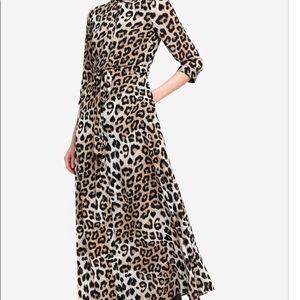Banana Republic Maxi Leopard Shirtdress